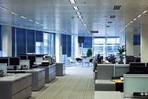 Reinigung von Bürogebäuden